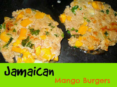 Jamaican Mango Burgers / from TheSirensTale.com