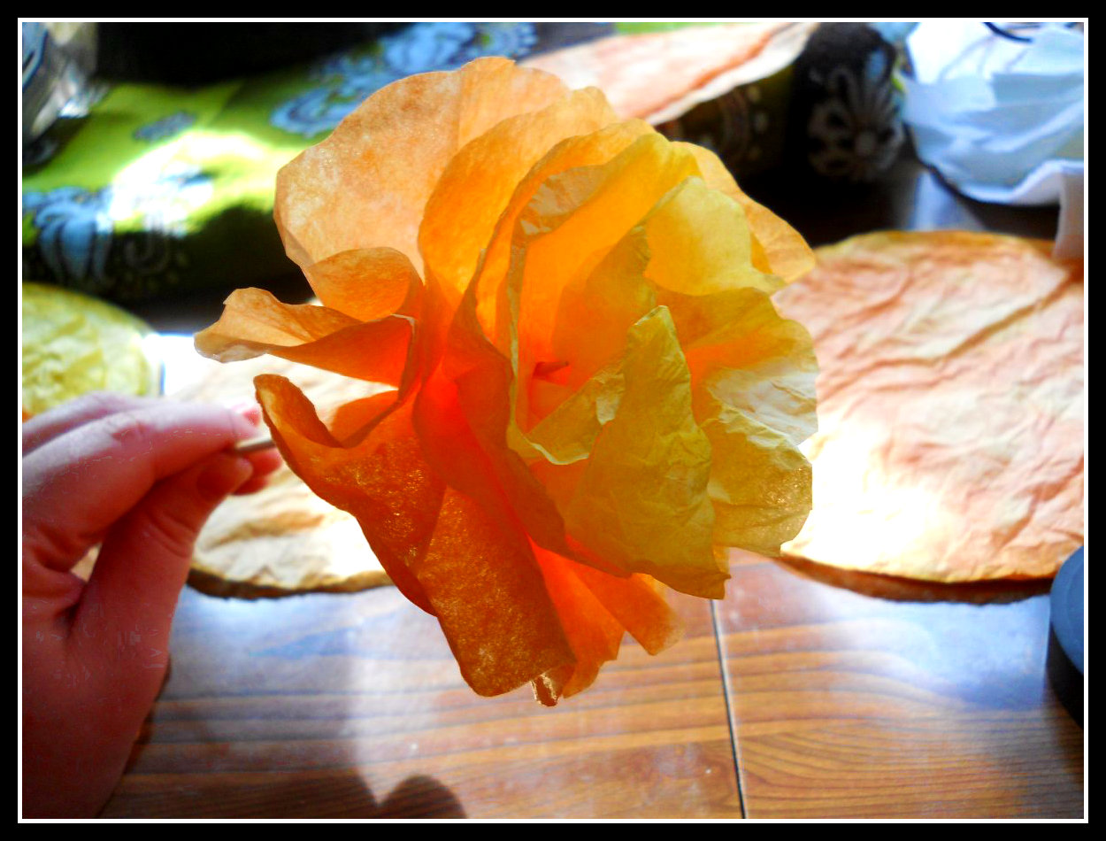 Diy craft halloween coffee filter flowers the sirens tale this is what your almost complete flower mightylinksfo
