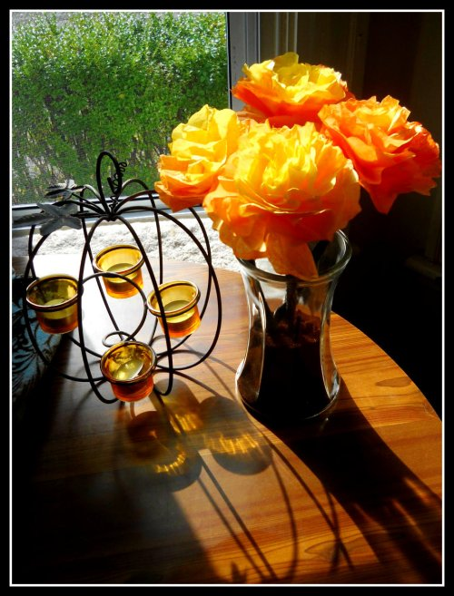 DIY Craft: Halloween Coffee Filter Flowers