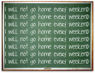 go home on weekends