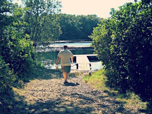 walking to water