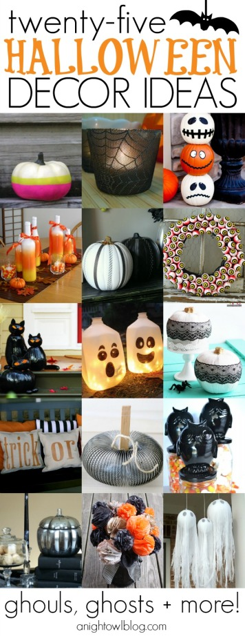 25 Halloween Decor Ideas from A Night Owl's blog... featuring the Halloween Decorative Bowls from The Siren's Tale