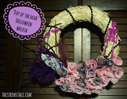 DIY Day of the Dead Halloween Wreath from The Siren's Tale