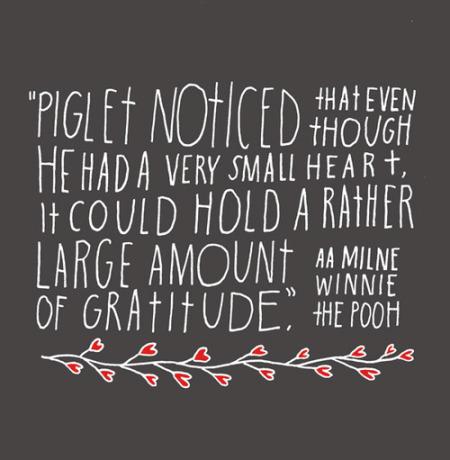 Piglet Gratitude / From TheSirensTale.com