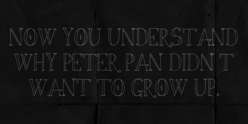 Peter Pan Quote / from TheSirensTale.com