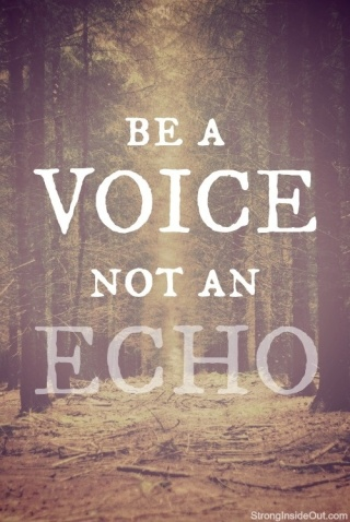 Be A Voice Not an Echo / from TheSirensTale.com