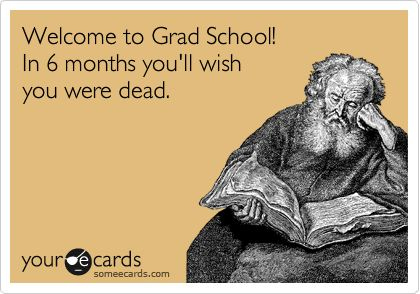 Reality of Grad School / from TheSirensTale.com