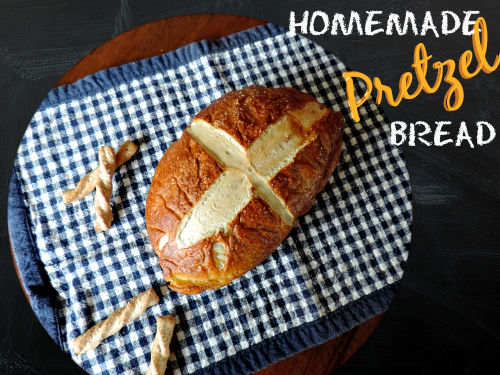 Homemade Pretzel Bread Recipe / from TheSirensTale.com
