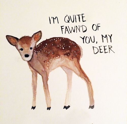 Quite Fond of You, Quite Fawn'd of You / Art by http://disasdoodles.tumblr.com / from TheSirensTale.com