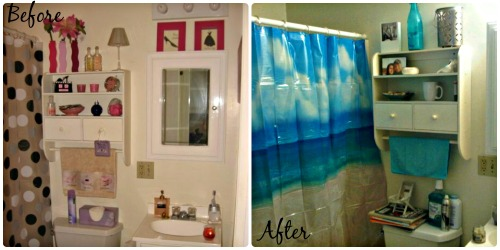 Before + After Bathroom / from TheSirensTale.com