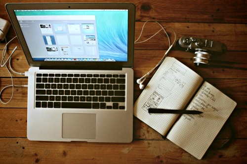 Computer, Camera, Notebook / Stock Photography from unsplash.com / Image from TheSirensTale.com