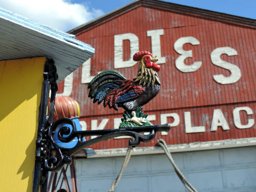 Antique Rooster Sign / from TheSirensTale.com