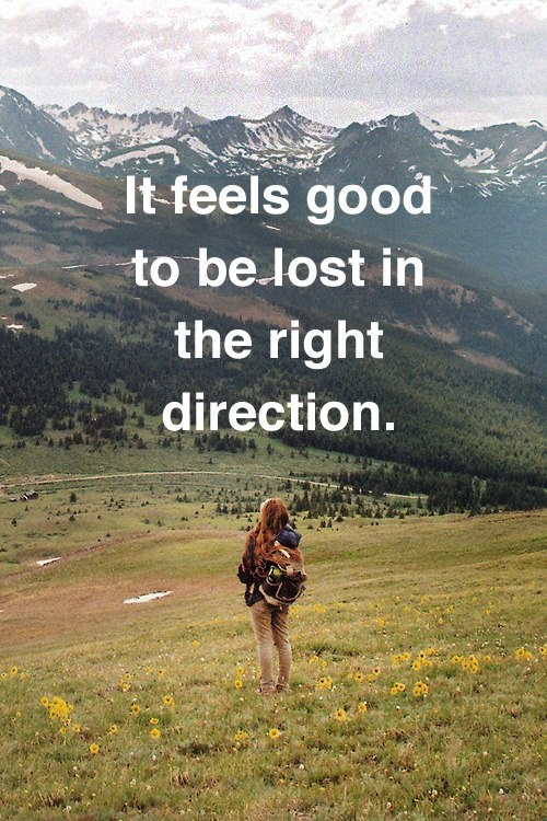Lost in the Right Direction / from TheSirensTale.com